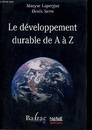 LE DEVELOPPEMENT DURABLE DE A A Z: LAPERGUE - SERRE