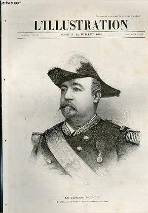 L'ILLUSTRATION JOURNAL UNIVERSEL N° 2472 - Gravures: le general Saussier, Gouverneur de ...