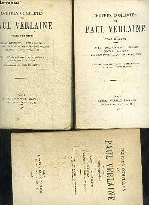 OEUVRES COMPLETES DE PAUL VERLAINE - 3 TOMES: VERLAINE PAUL