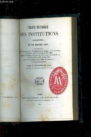 TABLEAU HISTORIQUE DES INSTITUTIONS ANCIENNES ET DU: MALEPEYRE AINE M.