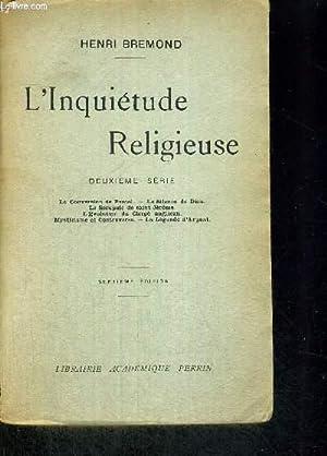 L'INQUIETUDE RELIGIEUSE - 2EME SERIE - LA CONVERSION DE PASCAL - LE SILENCE DE DIEU - LE ...