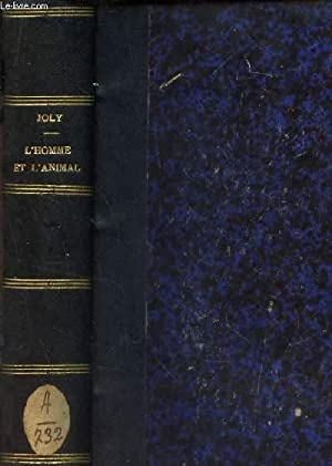 "L'HOMME ET L'ANIMAL / ""PSYCHOLOGIE COMPAREE"".: JOLY HENRI"
