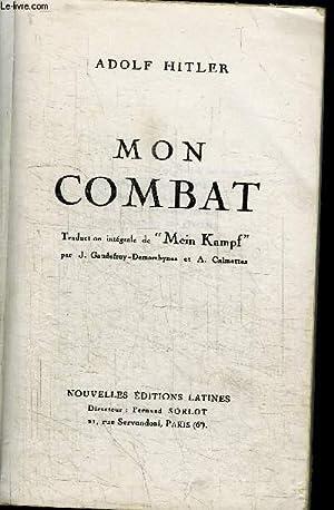 MON COMBAT - MEIN KAMPF / EDITION: HILTER ADOLF