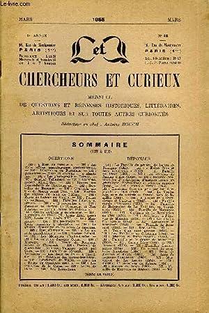 L'INTERMEDIAIRE DES CHERCHEURS ET CURIEUX N° 48 - QUESTIONS 129 : « Bien de famille ...