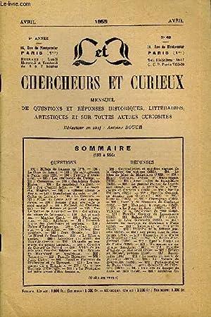 L'INTERMEDIAIRE DES CHERCHEURS ET CURIEUX N° 49 - QUESTIONS 193 : Billeti de banque en 1870.   ...