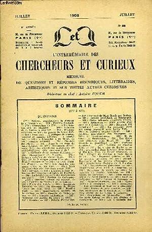 L'INTERMEDIAIRE DES CHERCHEURS ET CURIEUX N° 88 - QUESTIONS 577 : Tableau [repré...