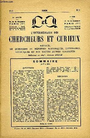 L'INTERMEDIAIRE DES CHERCHEURS ET CURIEUX N° 158: COLLECTIF