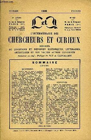 L'INTERMEDIAIRE DES CHERCHEURS ET CURIEUX N° 167 - QUESTIONS 113 : Citation sur la mort &...