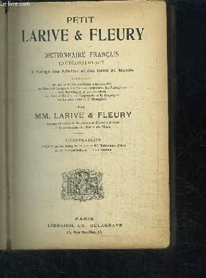 PETIT LARRIVE ET FLEURY - DICTIONNAIRE FRANCAIS: LARIVE / FLEURY