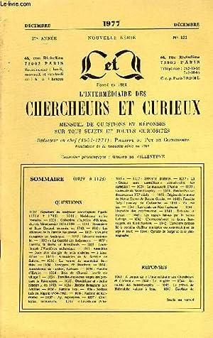 L'INTERMEDIAIRE DES CHERCHEURS ET CURIEUX N° 321: COLLECTIF