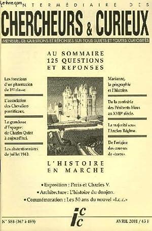 L'INTERMEDIAIRE DES CHERCHEURS ET CURIEUX N° 588: COLLECTIF
