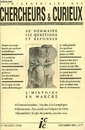 L'INTERMEDIAIRE DES CHERCHEURS ET CURIEUX N° 595: COLLECTIF