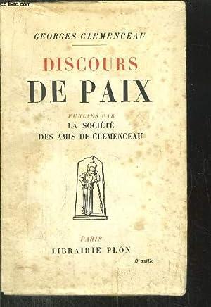 DISCOURS DE PAIX: CLEMENCEAU GEORGES