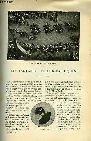 LE MONDE MODERNE TOME 18 - LES FANTAISIES PHOTOGRAPHIQUES + LA JOURNEE D'UNE GRANDE DAME ...