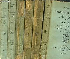 GRANDEUR ET DECADENCE DE ROME - 6 VOLUMES - TOME I+II+III+IV+V+VI - LA CONQUETE - JULES CESAR - LA ...