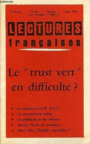 """LECTURES FRANCAISES N° 88 - LE """"TRUST VERT"""" EN DIFFICULTE ?, LA COLLUSION U.N.R.-..."""