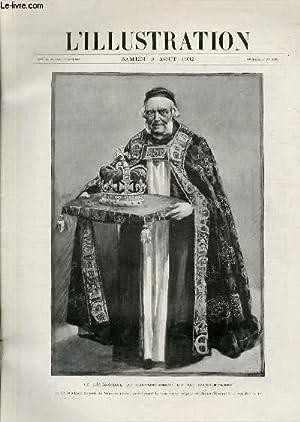 L'ILLUSTRATION JOURNAL UNIVERSEL N° 3102 - Gravures: le cérémonial du couronnement du roi d&#39...