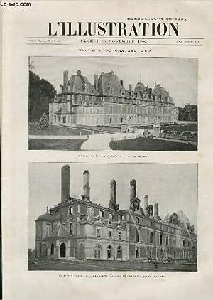 L'ILLUSTRATION JOURNAL UNIVERSEL N° 3116 - Gravures: l'incendie du chateau d'Eu ...