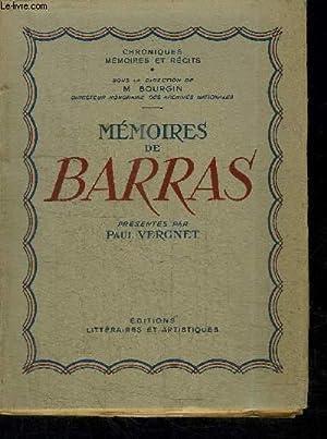 MEMOIRES DE BARRAS: VERGNET PAUL