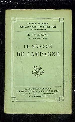 LE MEDECIN DE CAMPAGNE: BALZAC HONORE DE