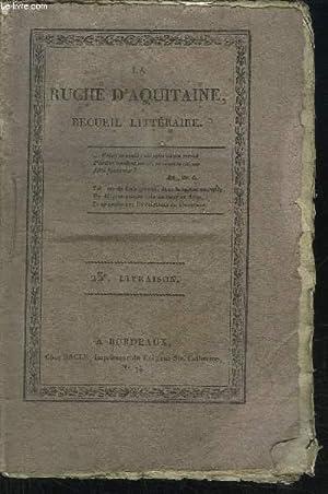 LA RUCHE D'AQUITAINE - RECUEIL LITTERAIRE /: COLLECTIF