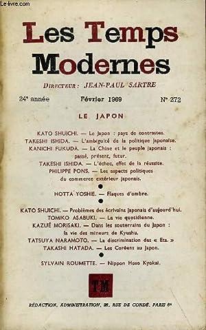 LES TEMPS MODERNES N° 272 - LE: SHUICHI KATO, ISHIDA