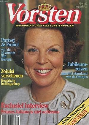 VORSTEN, MAART 1983 (Inhoud: Jubileumnummer, 10 Jaar Vorsten. Portret & profiel van de 10 ...