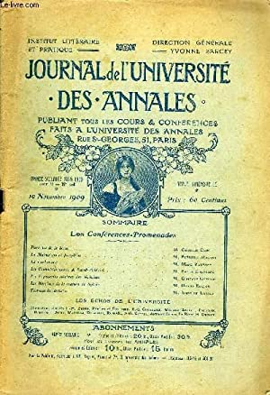 JOURNAL DE L'UNIVERSITE DES ANNALES ANNEE SCOLAIRE: COLLECTIF