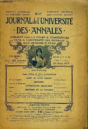 JOURNAL DE L'UNIVERSITE DES ANNALES QUATRIEME ANNEE SCOLAIRE N°8 - L'ART AU XVIII® SI&...