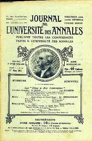 """JOURNAL DE L'UNIVERSITE DES ANNALES 5e ANNEE SCOLAIRE N°6 - Les """" Cinq à Six ..."""