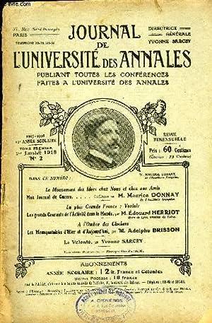 JOURNAL DE L'UNIVERSITE DES ANNALES 12e ANNEE SCOLAIRE N°2 - le Mouvement des Idées...
