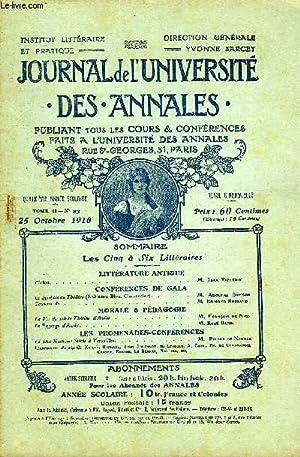 JOURNAL DE L'UNIVERSITE DES ANNALES QUATRIEME ANNEE SCOLAIRE N°23 - LITTÉRATURE ...