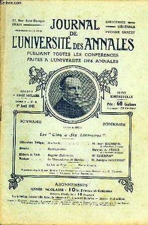 JOURNAL DE L'UNIVERSITE DES ANNALES 5e ANNEE SCOLAIRE N°8 - Sophocle.î*l.Jean ...