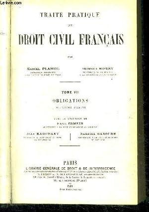 TRAITE PRATIQUE DE DROIT CIVIL FRANCAIS -: PLANIOL MARCEL /