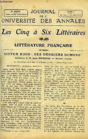 JOURNAL DE L'UNIVERSITE DES ANNALES 8e ANNEE SCOLAIRE N°11 - Littérature fran&...