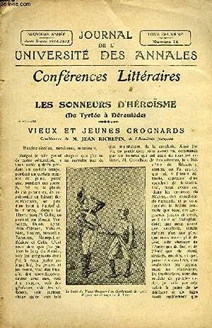 JOURNAL DE L'UNIVERSITE DES ANNALES 9e ANNEE: COLLECTIF