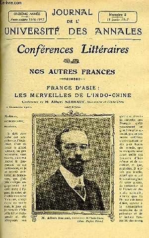 JOURNAL DE L'UNIVERSITE DES ANNALES 11e ANNEE SCOLAIRE N°2 - Sommaire : Nos Autres Frances...
