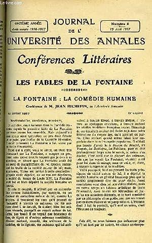 JOURNAL DE L'UNIVERSITE DES ANNALES 11e ANNEE SCOLAIRE N°8 - Sommaire :Les Fables de La ...