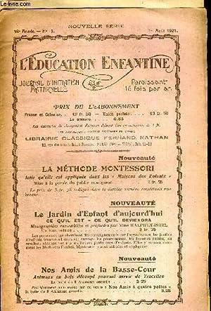 L'EDUCATION ENFANTINE - N°15- 18E ANNEE -: COLLECTIF