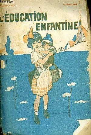 L'EDUCATION ENFANTINE - N°1 - 22E ANNEE: COLLECTIF