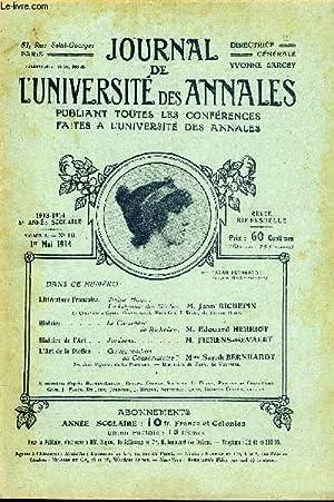 JOURNAL DE L'UNIVERSITE DES ANNALES 8e ANNEE SCOLAIRE N°10 - Littérature fran&...