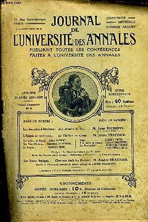 JOURNAL DE L'UNIVERSITE DES ANNALES 9e ANNEE SCOLAIRE N°9 - Les Sonneurs ¿'H&eacute...