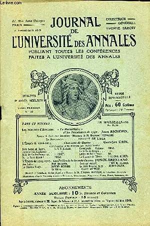 JOURNAL DE L'UNIVERSITE DES ANNALES 9e ANNEE SCOLAIRE N°10 - Les Sonneurs cTHérc&...