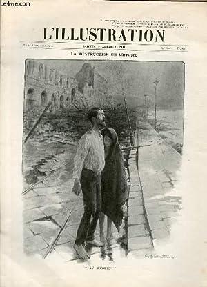 """L'ILLUSTRATION JOURNAL UNIVERSEL N° 3437 - Gravures: la destruction de Messine, """"au ..."""