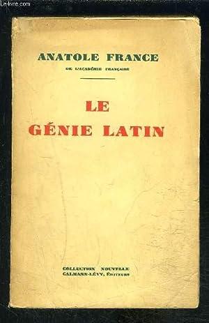 LE GENIE LATIN: FRANCE ANATOLE