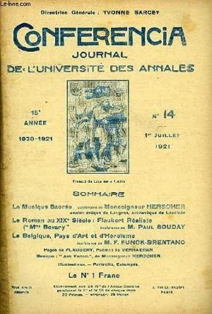 CONFERENCIA 15e ANNEE N°14 - La Musique Saorée Conférence de Monseigneur ...