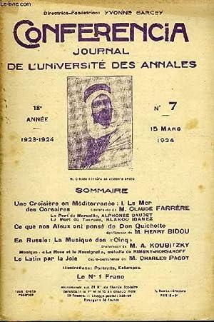 CONFERENCIA 18e ANNEE N°7 - Une Croisière en Méditerranée : I. La Merdes ...