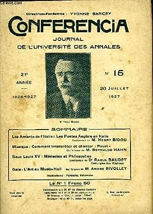 CONFERENCIA 21e ANNEE N°15 - Les Amants de l'Italie : Les Poètes Anglais en ItalieConf&...