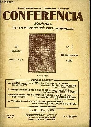 CONFERENCIA 22e ANNEE N°1 - La Société sous Louis XVI : Le Mariage et le Sacrede ...