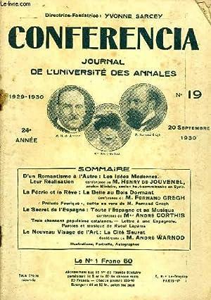 CONFERENCIA 24e ANNEE N°19 - D'un Romantisme à l'Autre : Les Idées Modernes.Leur ...